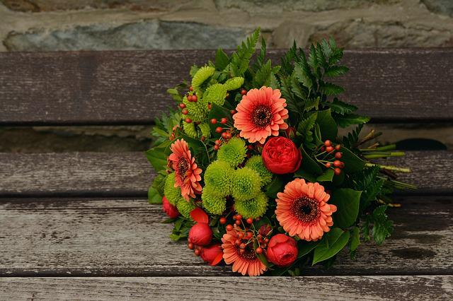 Autumn Flowers, Bouquet, Gerbera, Autumn Colours