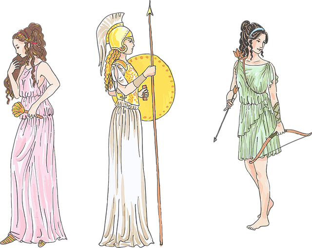 Ancient, Bow And Arrows, Female, Fictional, Figures