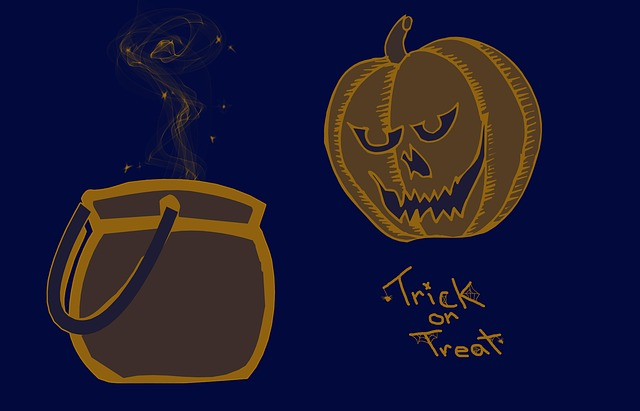 Haloween, Trick Or Treat, Pumpkin, Bowl, Background