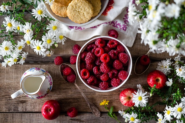 Raspberry, Berry, Summer, Closeup, Harvest, Ripe, Bowl