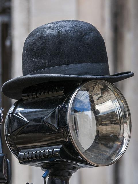 Hat, Bowler Hat, Hat Vintage, Black