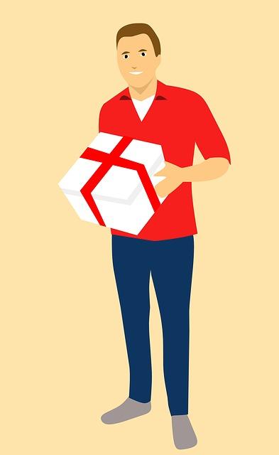Gift, Happy, Box, Cartoon Character, Idea, Young