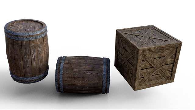 Barrel, Box, Wood, Png, Isolated