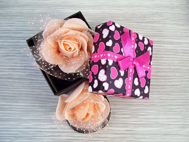 Box, Rose, Gift, Elastic Hair, Ornament, Color, Pink