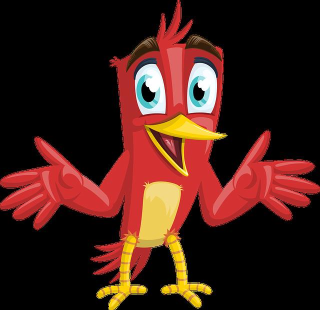 Bird, Happy, Animal, Red, Beak, Nature, Male, Cute, Boy
