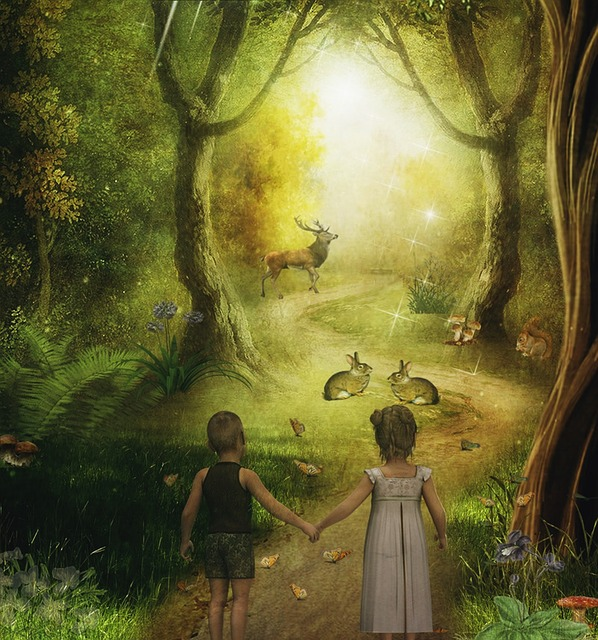 Forest, Children, Boy, Girl, Brothers And Sisters
