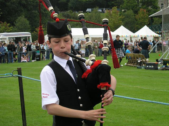 Bagpipes, Boy, Highland Games, Music, Instrument