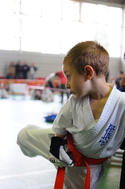 Karate, Kick, Boy, Martial Arts, Child, Kimono