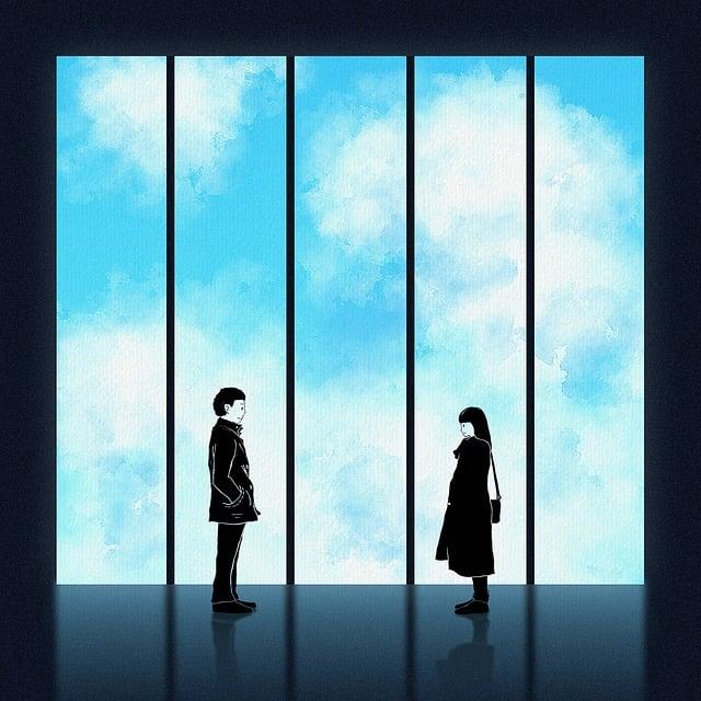Fantasy, Window, Boy, Girl, Man, Woman, Love, Parting