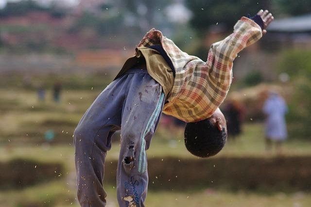 Boy, Somersault, Jump, Movement, Childjump, Truck