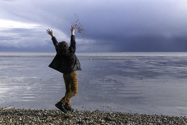 Boy On Beach, Boy Throwing Peoples, Child On Beach