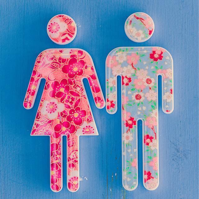 Bathroom, Boy, Girl, Restroom, Sign, Washroom