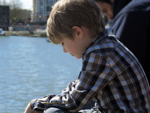 Boy, Harbor, Child, Thinking, Dreaming, Future, Water