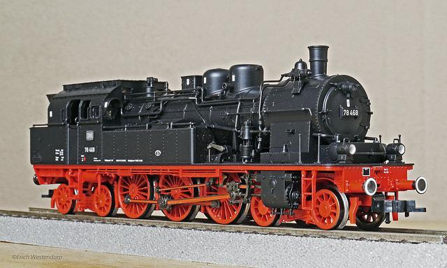 Steam Locomotive, Model, H0, 1 87, Br78, T18, Prussian