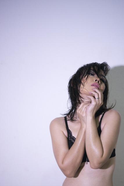 Girl, Sexy, Bra, Oily