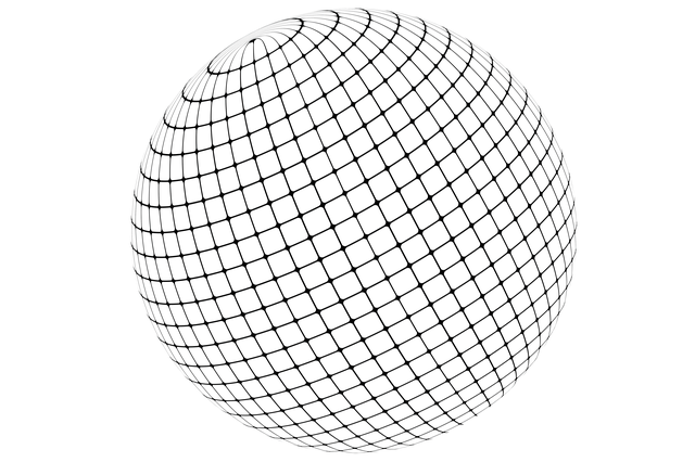 Ball, Globe, Meridian, Braid, Network, Lines, Global