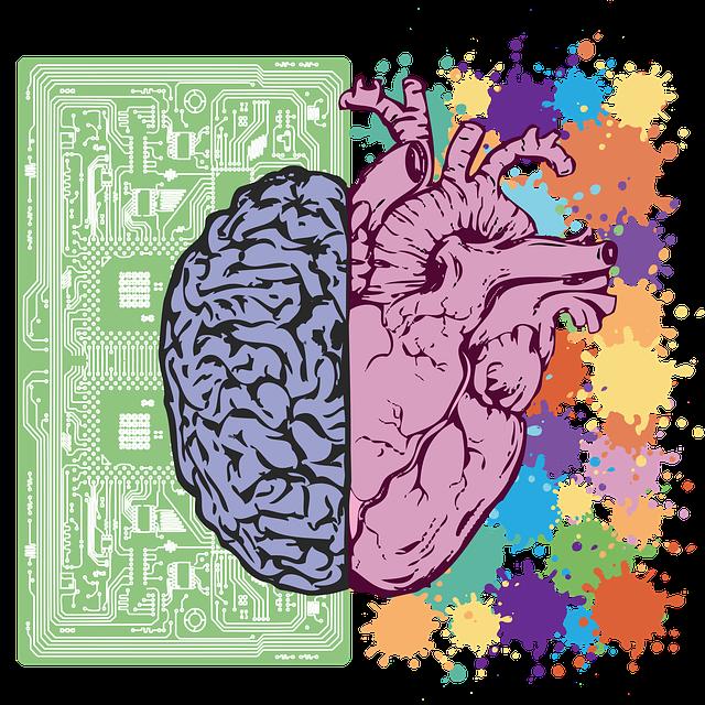 Brain, Heart, Balance, Emotion, Intelligence, Symbol
