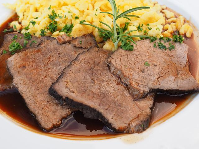 Sauerbraten, Meat, Meat Dish, Pot Roast, Braised Roast