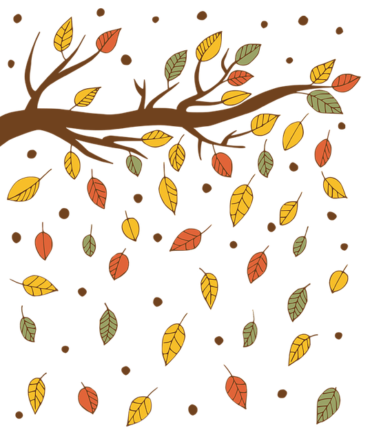 Autumn, Isolated, Sheet, Branch, Falling Leaves, Fall