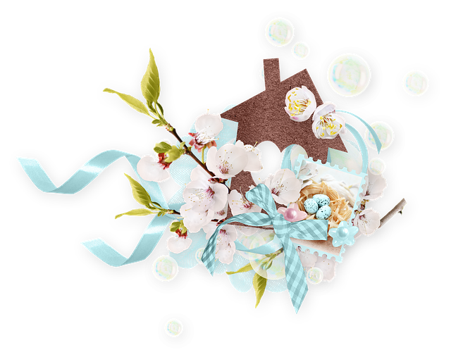 Spring, Bloom, Nature, Branch, Flowers, Tape, House