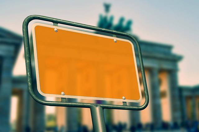 Mockup, Berlin, Brandenburg Gate, Town Sign
