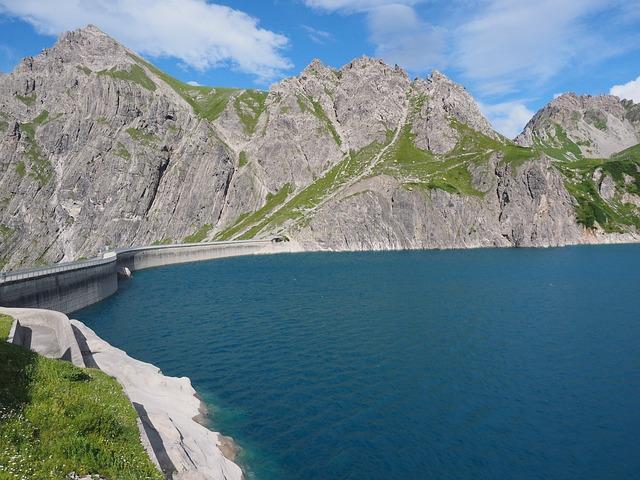 Luenersee, Dam, Schafgafall, Water, Blue, Brandnertal