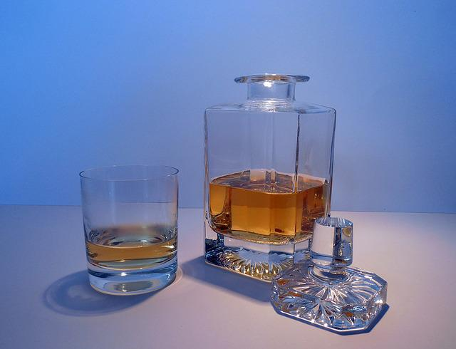 Alcohol, Whisky, Whiskey, Carafe, Bottle, Glass, Brandy