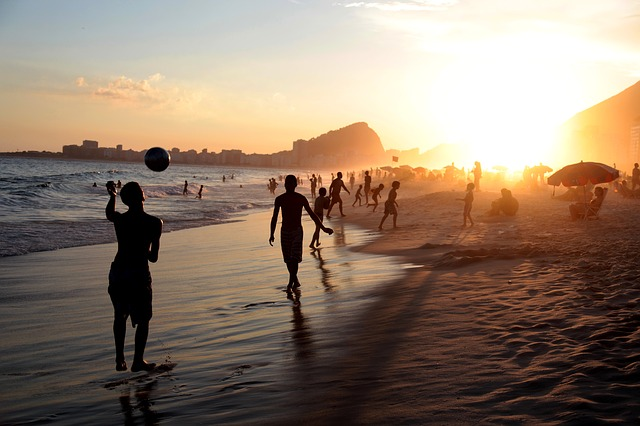 Rio, Brasil, People, Soccer, Football, Beach, Ball