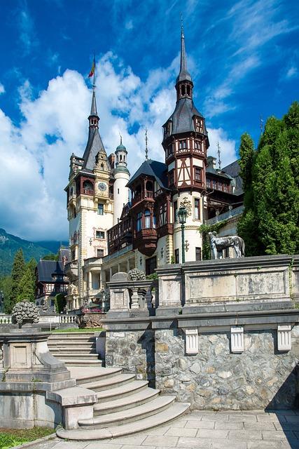 Peles Castle, Brasov, Carpathian Mountains, Romania
