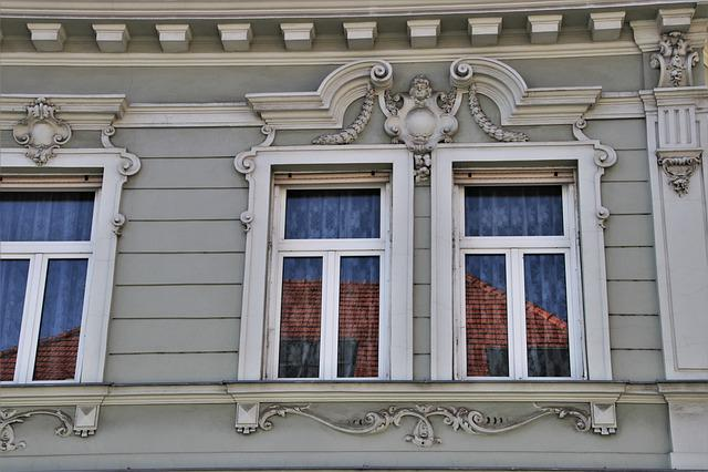 Glass, Bratyslawa, Wall, Building, Stone, The Window