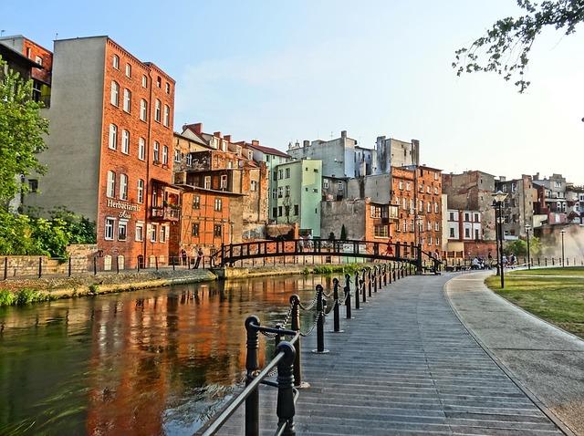 Bydgoszcz Venice, Brda, River, Houses, Urban, Bridge