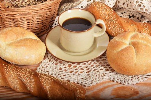 Bread, Coffee, Breakfast