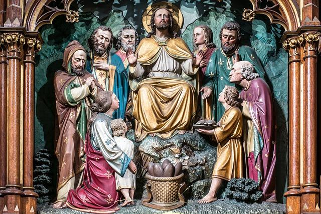 Bread Multiplication, Altar, Carving, Jesus, Christ