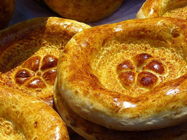 Bread, Flat Bread, Food, Bread Stamp, Uzbekistan, Eat