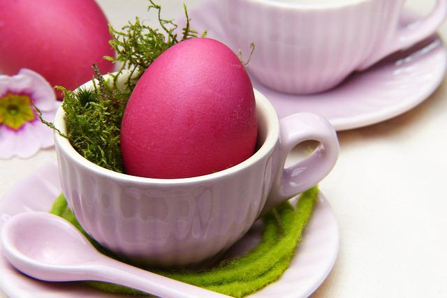 Easter Egg, Red, Background, Easter, Breakfast, Cup