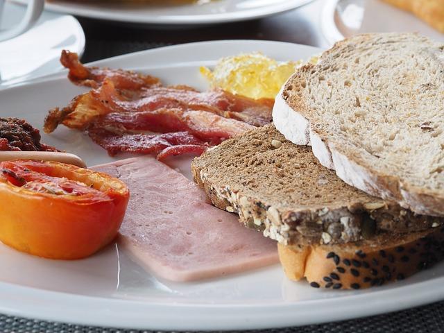 Breakfast, Bread, Bacon, Sausage, Caucasian Cuisine