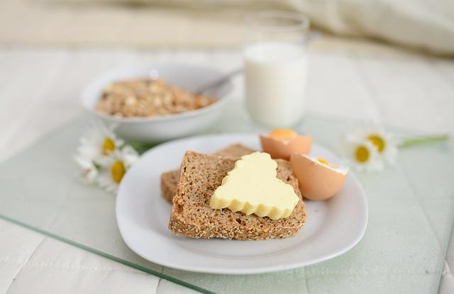 Breakfast, Breakfast In Bed, Muesli, Bread, Butter