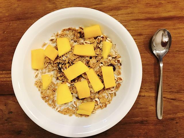 Muesli, Mango, Delicious, Breakfast