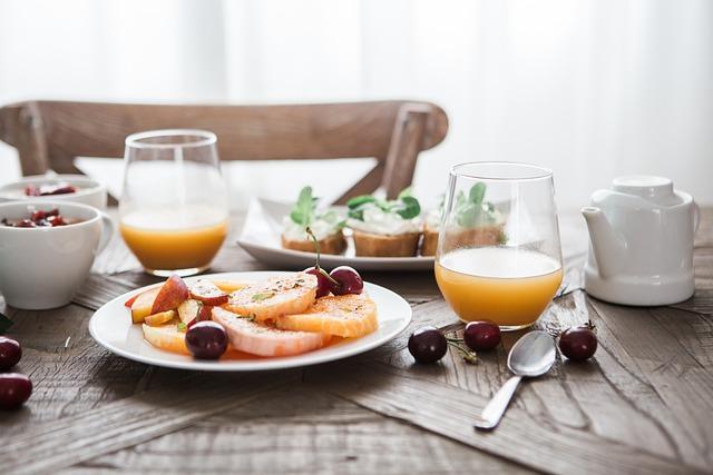 Breakfast, Delicious, Drink, Food, Orange Juice, Fruit