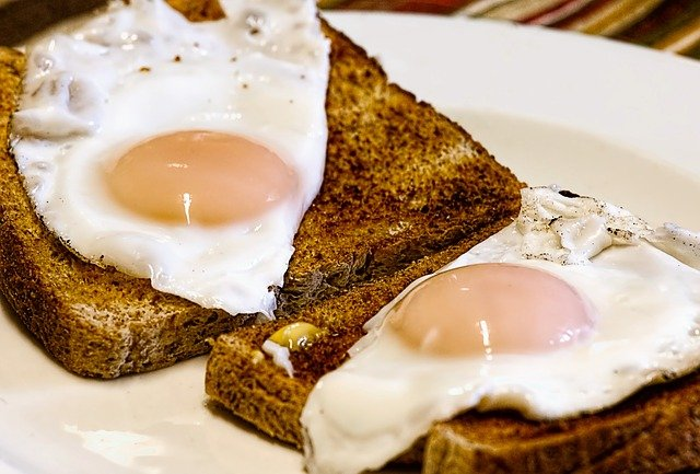 Breakfast, Toast, Food, Fried Eggs, Eggs, Meal, Bread