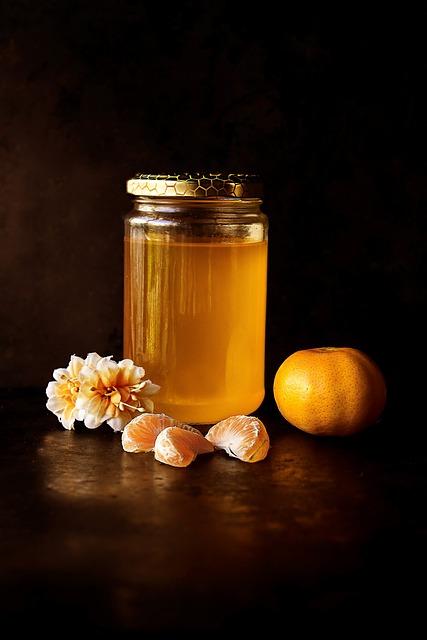 Honey, Jar, Breakfast, Glass, Food, Liquid, Orange