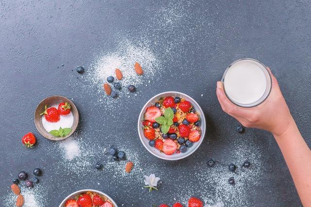 Müesli, Milk, Fruits, Breakfast, Flake, Fruit