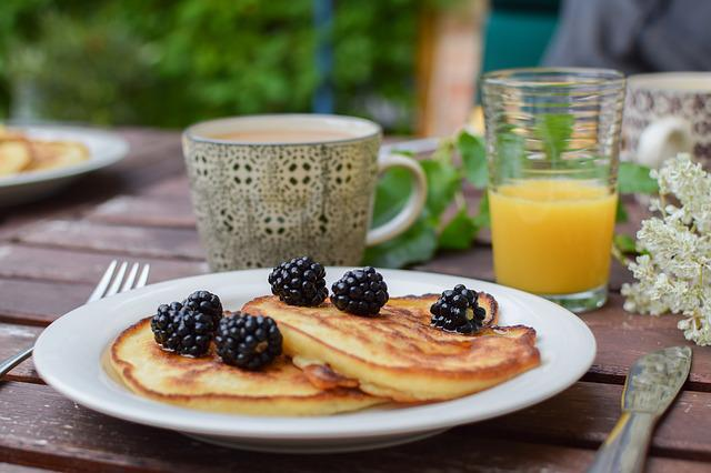 Blackberry, Pancakes, Brunch, Summer, Breakfast