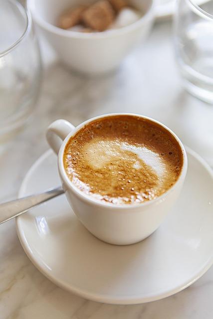 Coffee, Breakfast, Picnic, Relax, White, Foam, Espresso