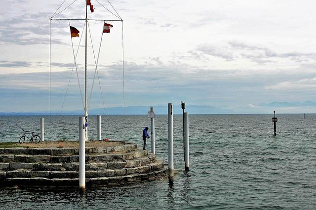 Breakwater, Lake, Fishing, Angler, Man, Water