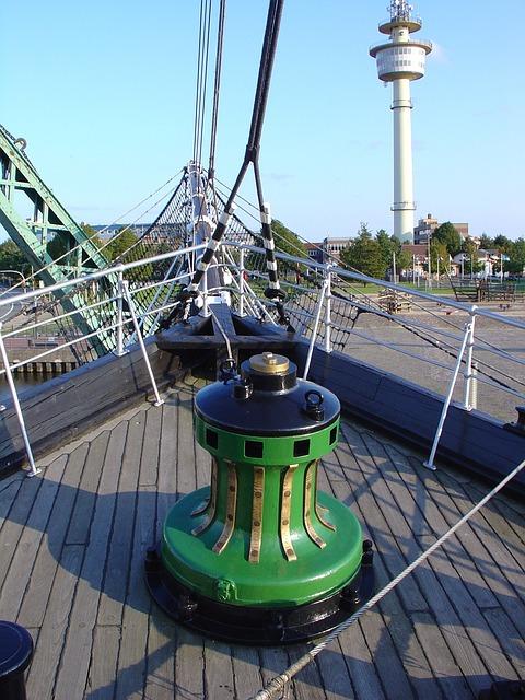 Seute Dahir, Bremerhaven, Maritime Museum, Capstan