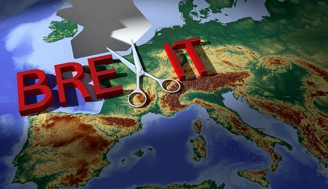 Brexit, Map, Scissors, Europe, Gap, Separation, Crisis