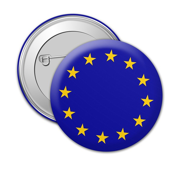 Badge, Brexit, Metal, Pin, Lapel, Design, Icon, Symbol