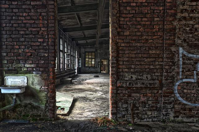 Leave, Brick, Old, Wall, Architecture, Building, Empty