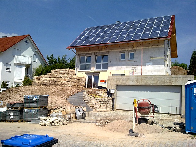 Building, House, Germany, Concrete Mixer, Brick